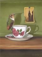 Scintillant Hummingbird/English Tea Cup